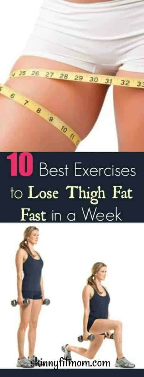 exercises to lose thigh fat in a week at home
