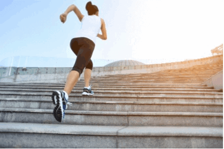 Climbing stairs {Best Exercises to Lose Upper Thigh Fat fast in 7 Days