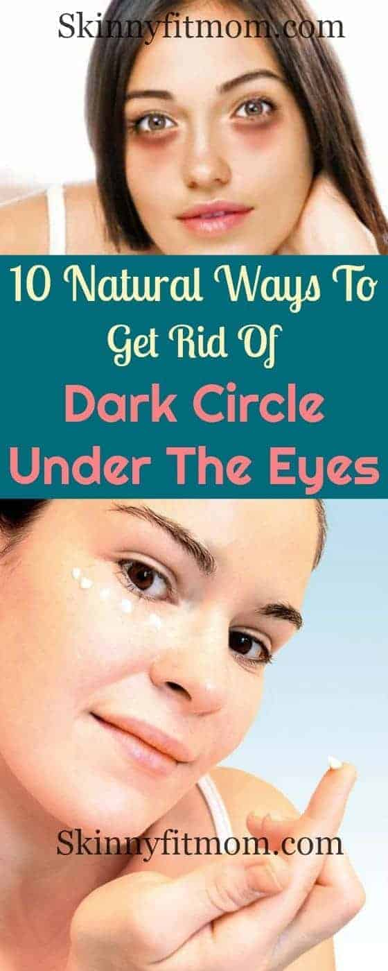 How to get rid of dark circles and saggy bags under the eye using the best natural means.