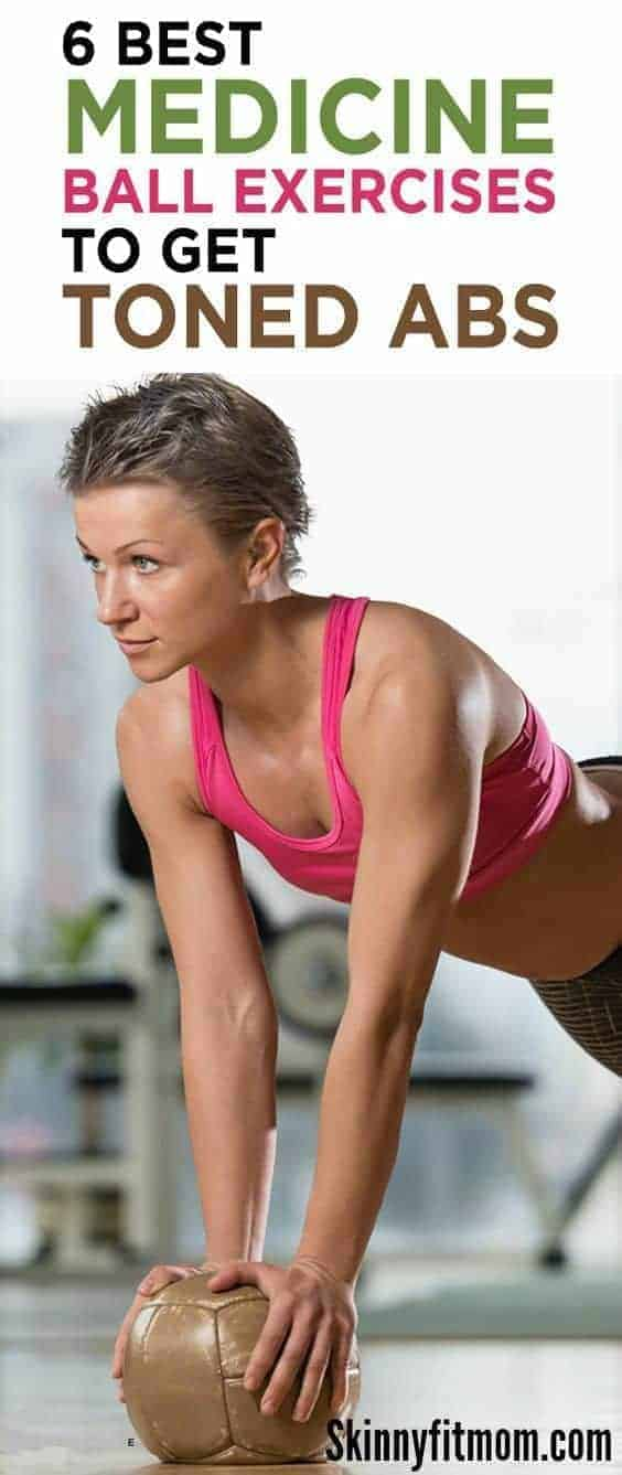 Burn your abs and shred belly fat with this 2 Week workout challenge to tighten your core. This 6 BEST medicine ball exercises is what you are be looking for to get that well toned 6pack abs in no time! #exercise #abs