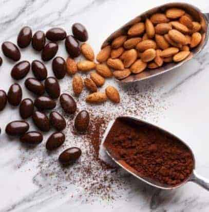 Dark Chocolate Almond- 15 Fat Burning Snacks You Can Eat at Night to Lose Weight | Eat This Not That