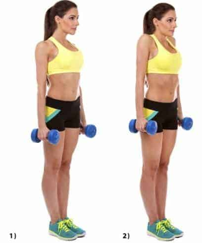 Dumbbell Shrugs - Best Armpit Fat Exercises To Lose Underarm Fat In 7 Days