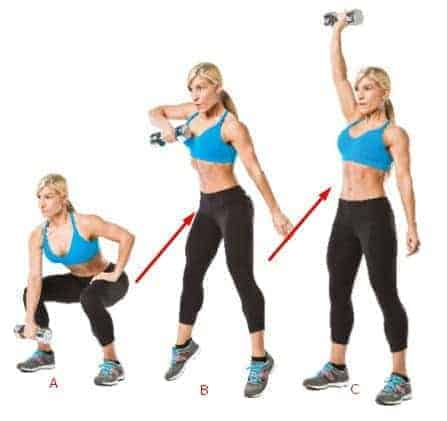 Dumbbell Snatch - 4 Mins fat burning workouts