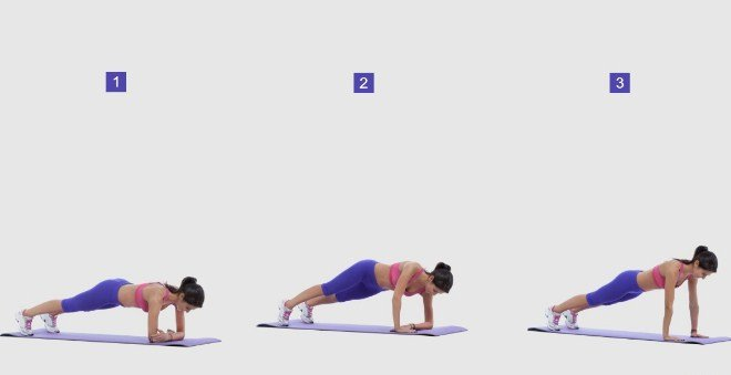 Dynamic Plank - 8 Simple exercise to get rid of muffin top in a week