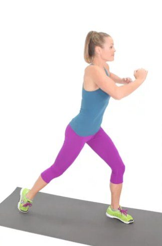 Lunge Jump - 4 mins fat burning workouts