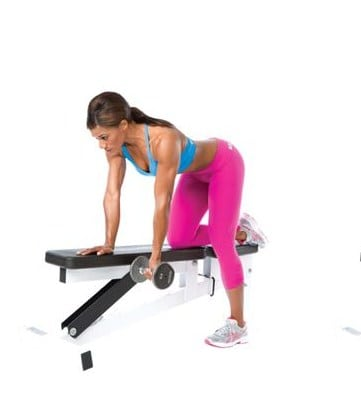 One-Arm Dumbbell Row - Best Exercises To Lose Underarm Fat In 7 Days