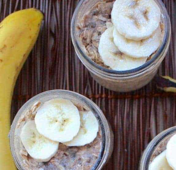 Peanut Butter Banana Oats - 7 Make Ahead Healthy Meals and Snacks for Weight loss