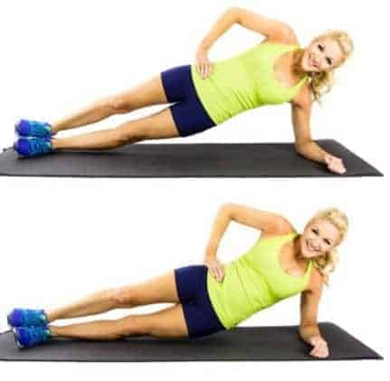 Side Plank - 8 Simple exercise to get rid of muffin top in a week
