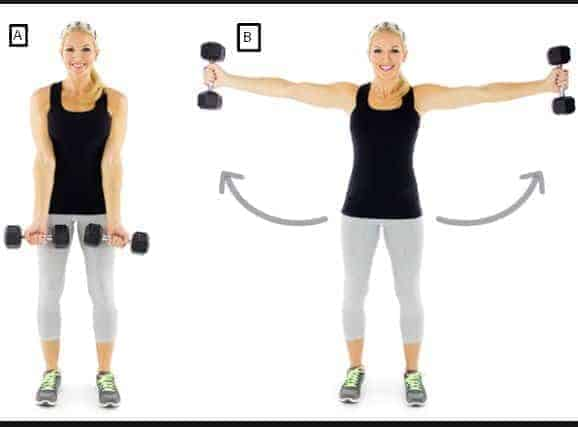 Side fly extension-12 Best Exercises To Get Rid Of Back Fat At Home