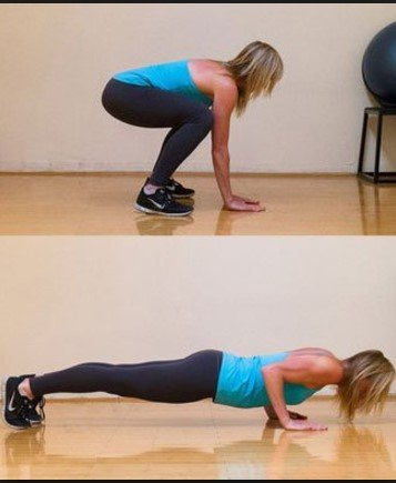 Squat thrust - 6 Best Abs Exercises to Get a Six-Pack Ab in 30 days