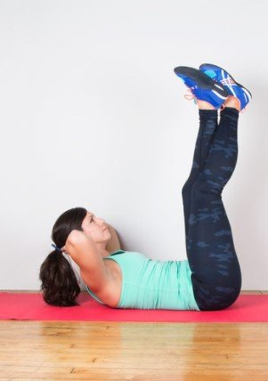 Vertical Leg Crunches to eliminate lower belly fat