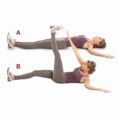 Wide-Toe-Touches- 6 Best Abs Exercises to Get a Six-Pack Ab in 30 days