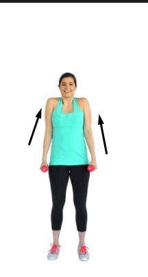 Dumbbell Shrugs- 12 Best Exercises To Get Rid Of Back Fat At Home