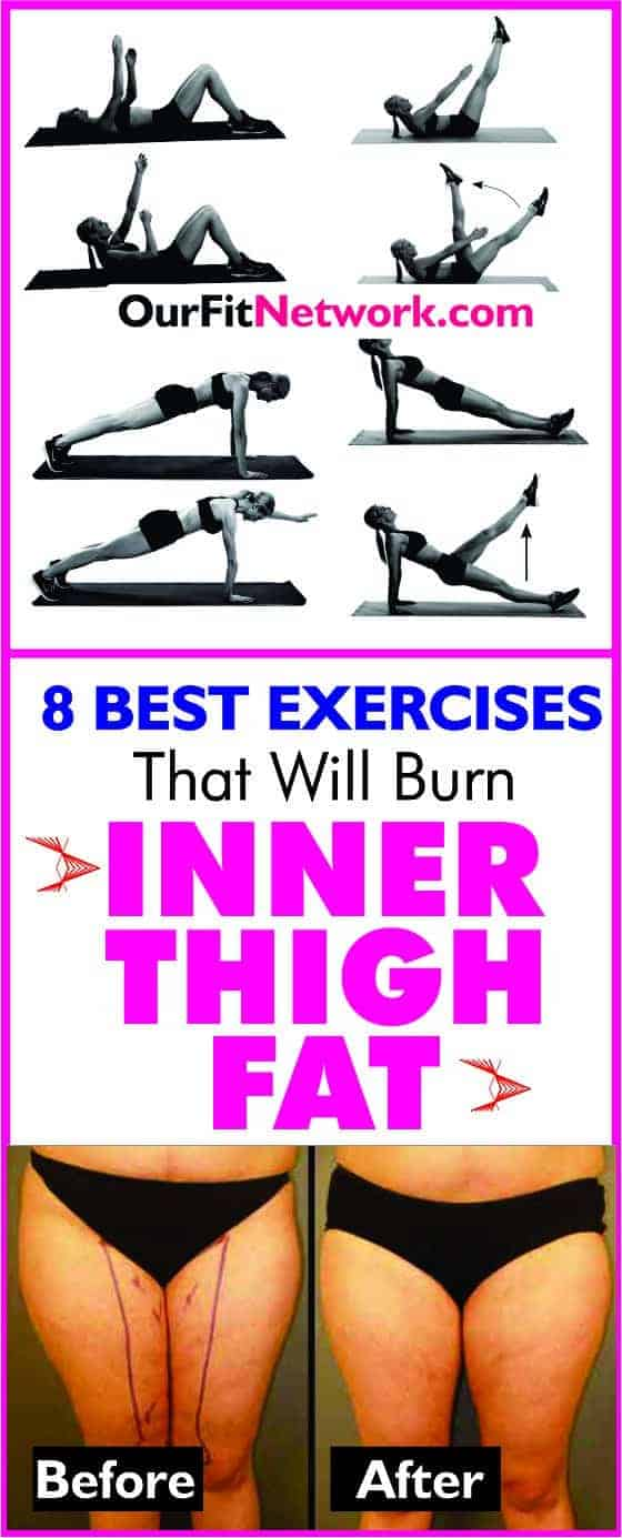 How to Get Rid of Inner Thigh Fat - 8 Best Exercise That Will Burn Inner Thigh Fat For Insanely Toned Legs Fast #innerthighfat #ThighFatWorkouts