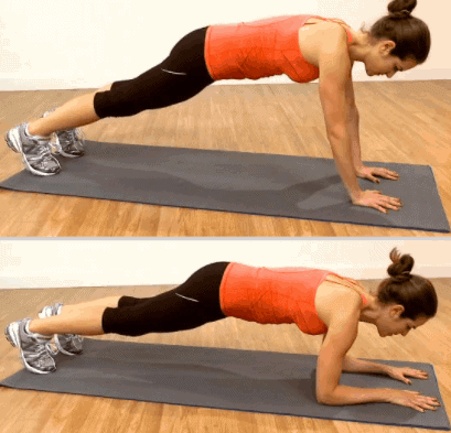 Push Planks- 7 Best Exercises To Lose Arm And Back Fat