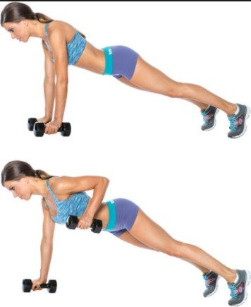 Renegade Rows- 7 Best Exercises To Lose Arm And Back Fat