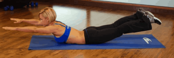 Superman- 7 Best Exercises to Lose Arm and Back Fat