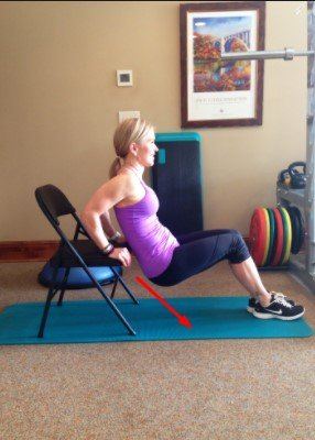 tricep push up on chair -12 Best Exercises To Get Rid Of Back Fat At Home