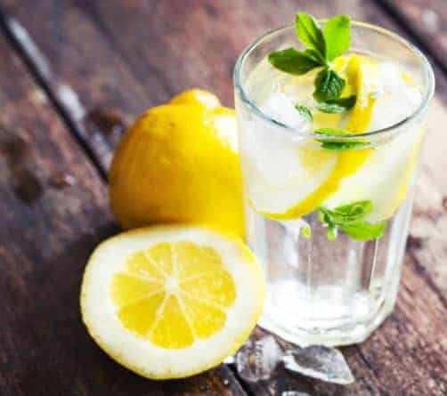 Water with Lemon- 16 Best foods to reduce belly fat fast