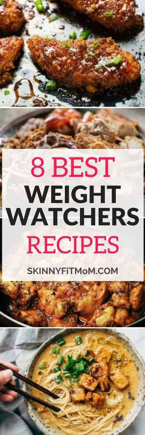 8 Best Weight Watchers Recipes. Foods that help you maintain and keep your weight loss. They are not only easy to make but also delicious!