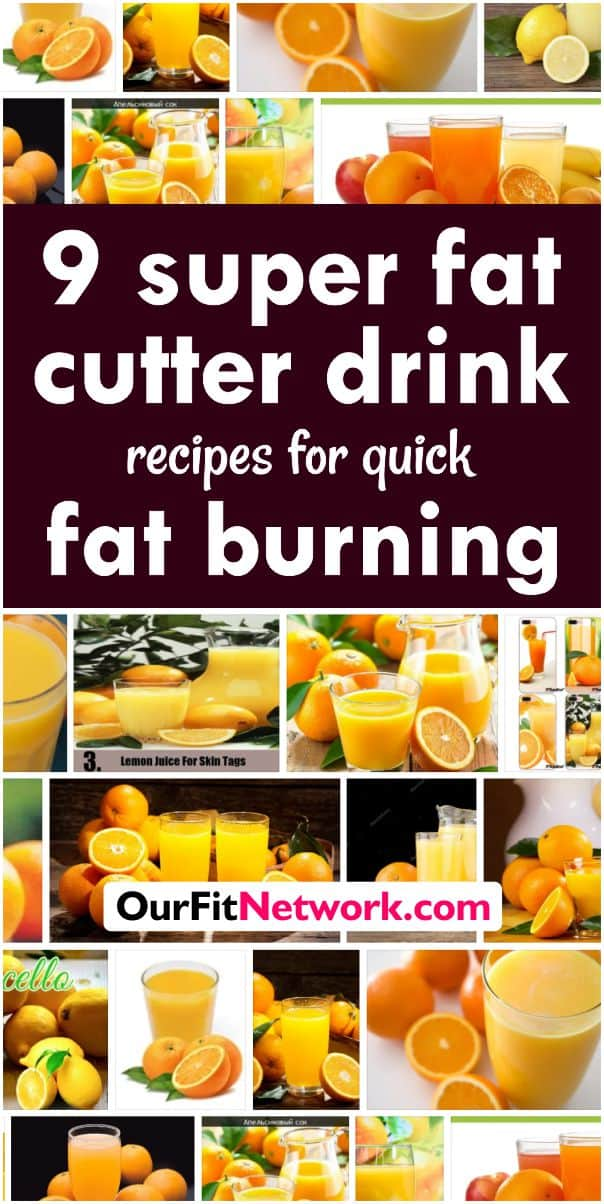 9 Super Fat Cutter Drink Recipes for Fat Burning and Belly Fat removal. These are secret recipes that work in astonishing ways! #fatcutter #drinkrecipies