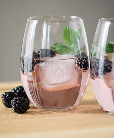 Blackberry Mint Infused water- DIY Fruit Infused Water Recipes for Weight Loss