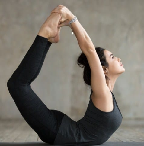 Bow Pose - 5 Yoga workouts for six pack abs