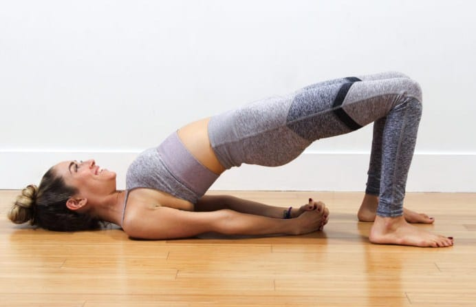 Bridge Pose - 5 Yoga workouts for six pack abs