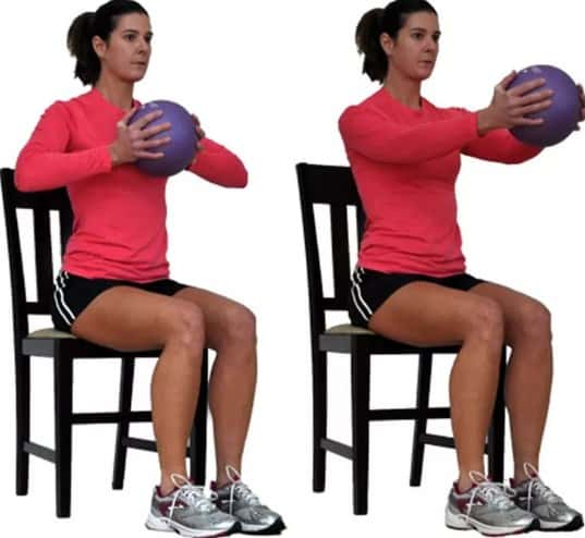 Chest Squeeze with Ball - 8 Simple Exercises to Lift Sagging Breasts And Make Them Firm