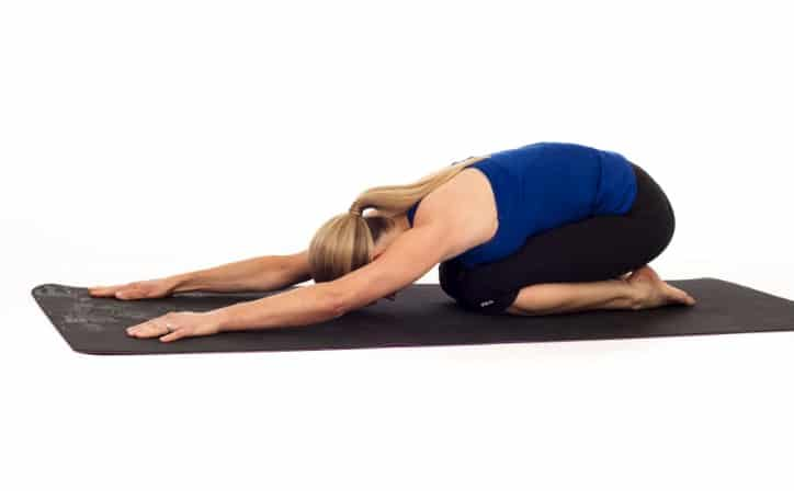 Child Pose - 5 Yoga workouts for six pack abs