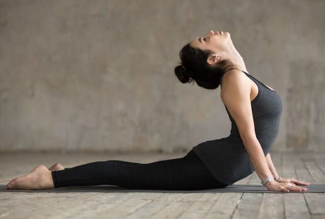 Cobra Pose - 5 Yoga workouts for six pack abs