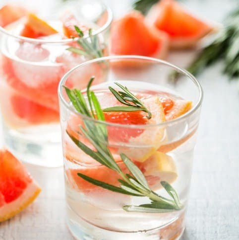 Grape Fruit & Rosemary Infused Water - DIY-Fruit-Infused-Water-Recipes-for-Weight-Loss
