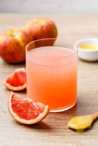 Grapefruit, Apple Cider Vinegar, Honey Juice- 9 Super Fat Cutter Drink Recipes for Fat Burning and belly fat removal