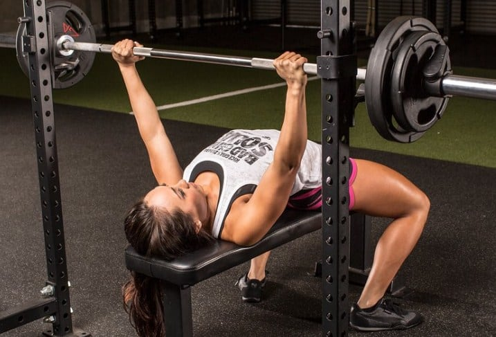 Lightweight Bench Press - 8 Simple Exercises to Lift Sagging Breasts And Make Them Firm