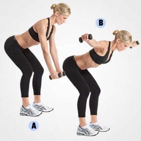 Reverse Dumbbell Fly - 8 Simple Exercises to Lift Sagging Breasts And Make Them Firm