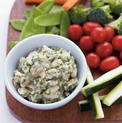 White Bean & Herb Hummus with Crudites - 8 Delicious Foods That Will Help You Lose Weight Fast