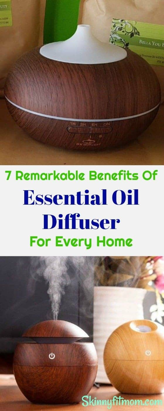 7 Remarkable Benefits Of Essential Oil Diffuser For Every Home. Every home needs an essential oil diffuser and here's why. #EssentialOilDiffuser #EssentialOil #Diffuser