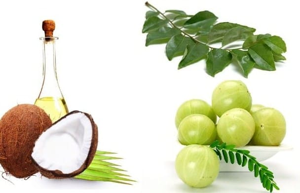 Coconut oil with Indian Gooseberry- 8 Proven Ways of Using Coconut Oil for Hair Growth – Tricks & Tips