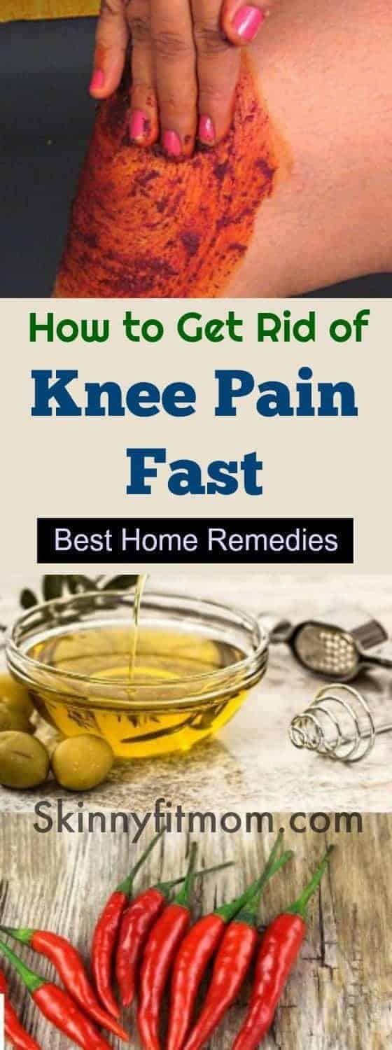 How to Get Rid of Knee Pain Fast - 7 Best Home Remedies for #KneePainRelief. #HomeRemedies to cure knee pain fast. Don't let knee pain cause you any problems.
