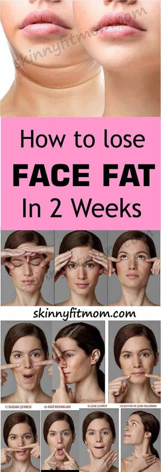 how to lose face fat in 2 weeks