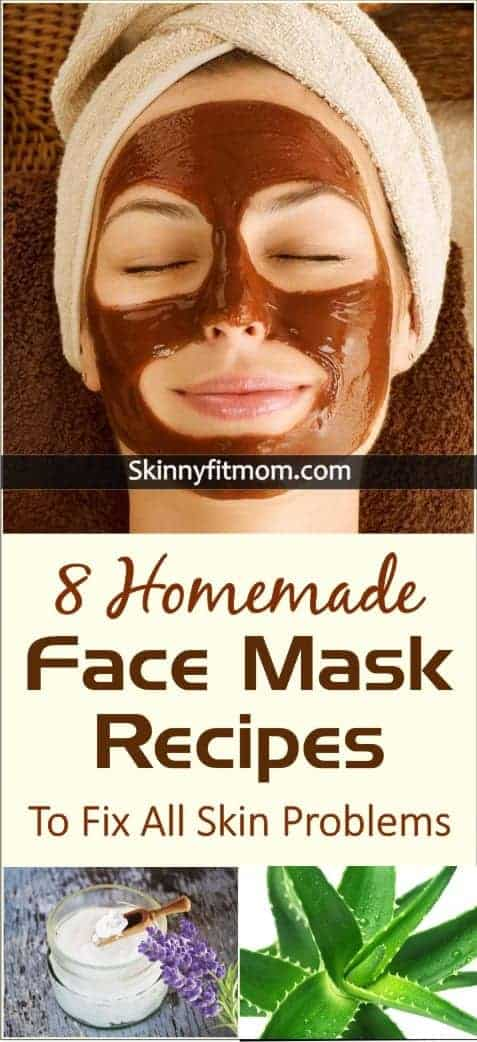 8 Homemade Face Mask Recipes To Fix All Skin Problems Fast