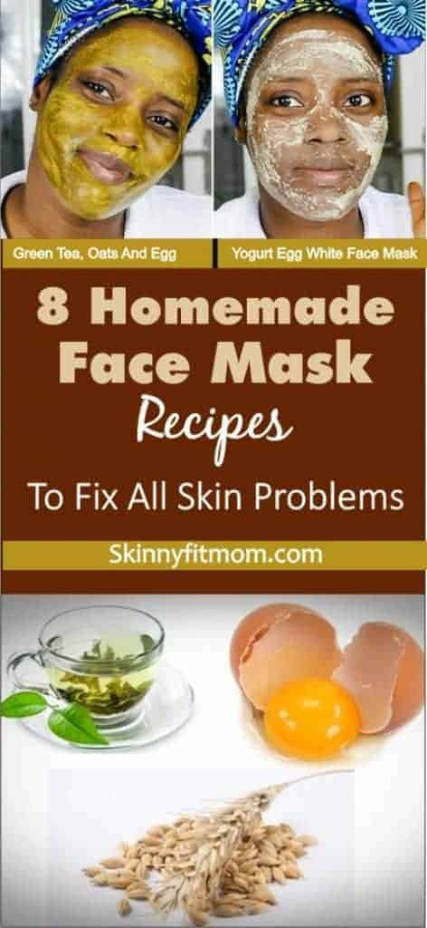 8 homemade face mask recipes to fix all skin problems: These recipes work for all and any skin problems.