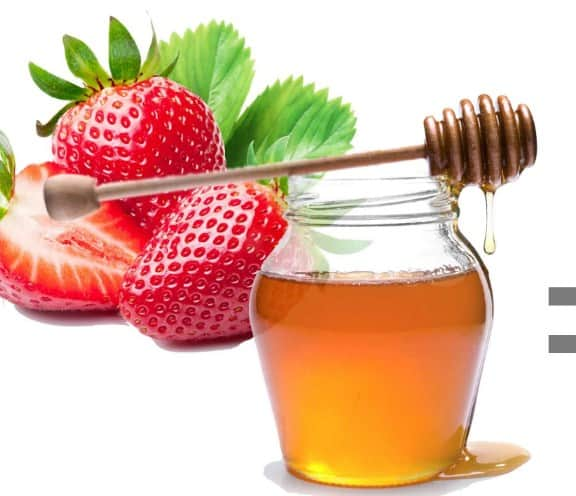 Strawberry and Honey- How To Get Rid Of Acne + 11 Home Remedies For PimplesThat Work Fast