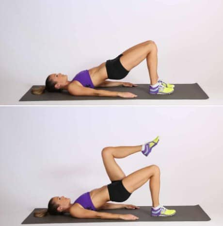 The Glute Bridge- 9 Effective Glute Workouts for Women To Tone, Firm, Lift, Tighten + Make Butt Bigger