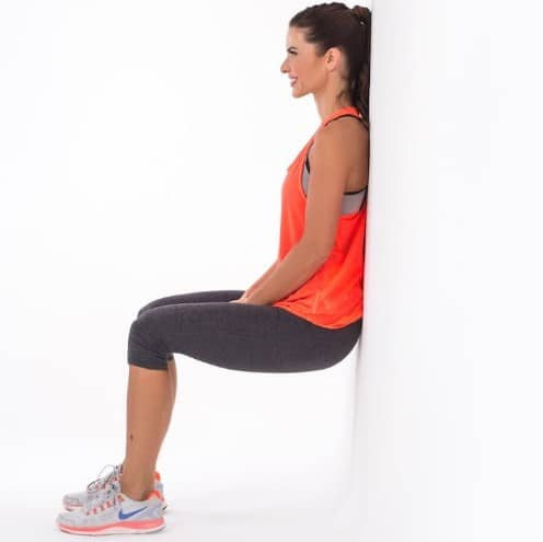 Wall sit-7 Best Leg Workouts at Home to Reduce Leg Fat