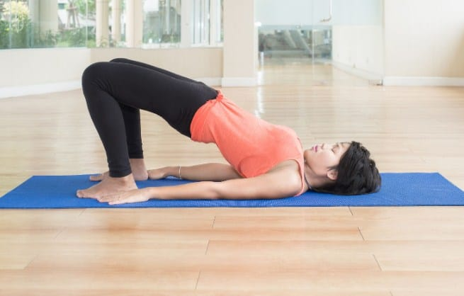 Bridge Pose- Yoga Poses For Anxiety And Stress Relief