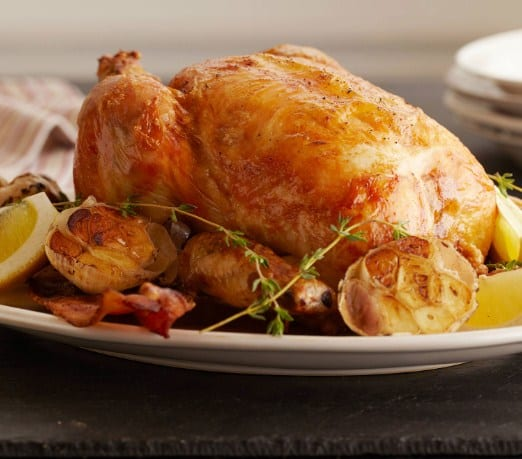 Lemon and Garlic Roasted Chicken-10 Healthy and Easy Christmas Recipes.