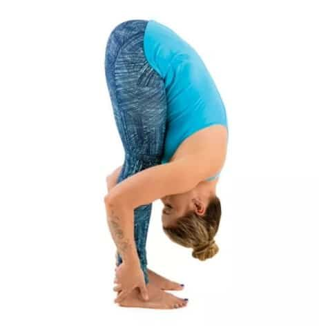 Standing Forward Fold Pose- Yoga Poses For Anxiety And Stress Relief