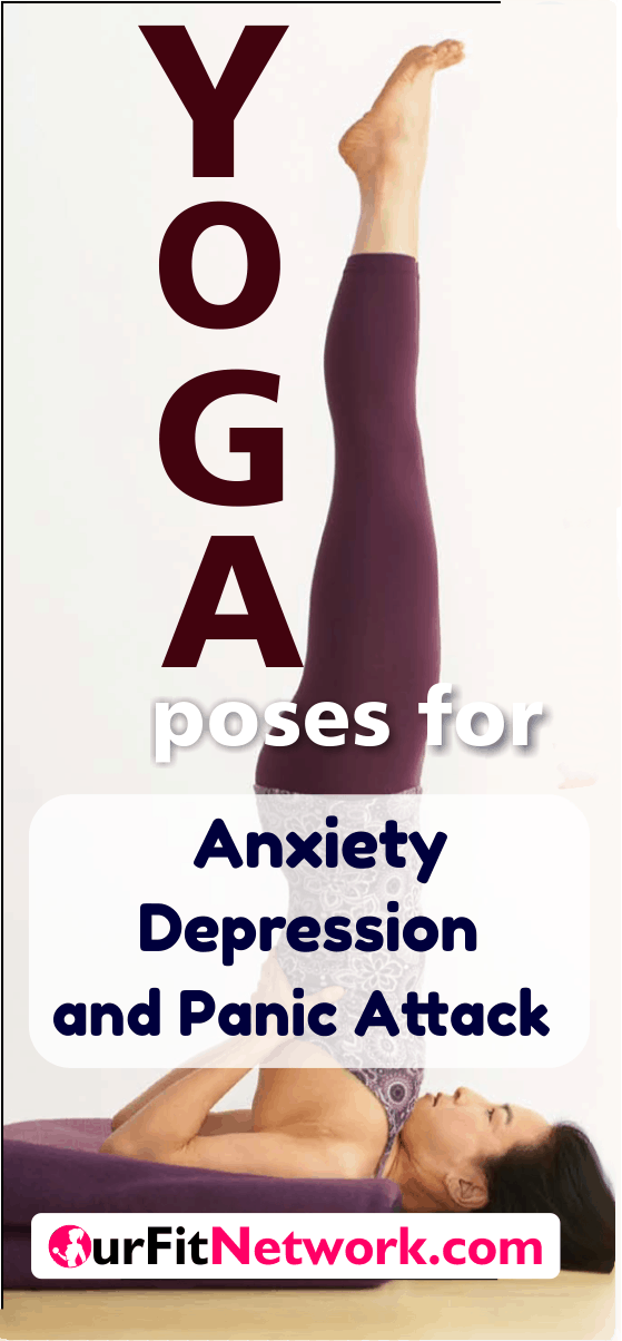 7 Best Yoga Poses For Anxiety, Depression And Stress Relief- Take Advantage of Yoga to deal with anxiety, depression and stress. It really works! #Yoga #StressRelief