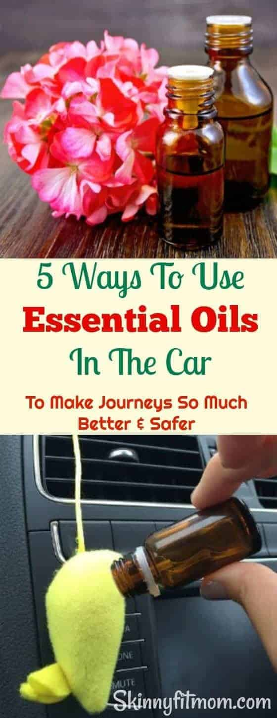 5 Ways To Use Essential Oils In The Car To Make Journeys So Much Better & Safer- Everyone wants to travel safe. Make your Journeys more enjoyable, let essential oils be your company on that next journey.